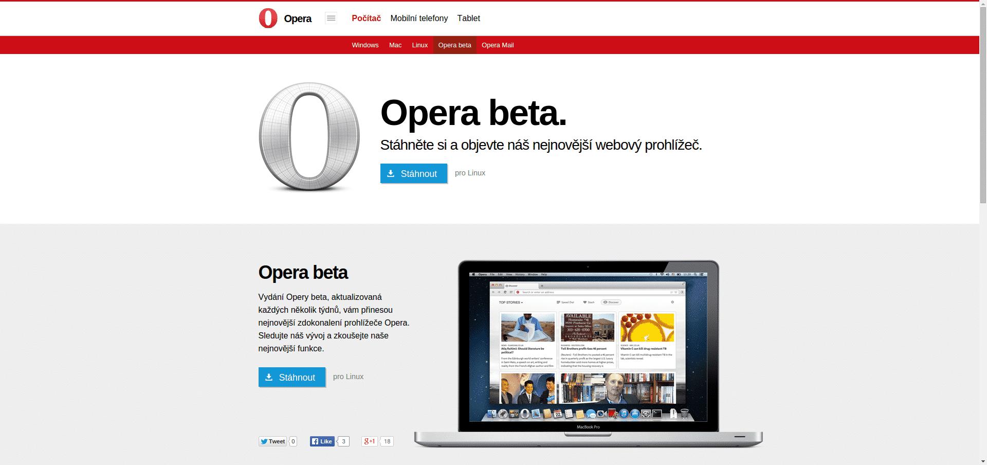Opera Next Beta
