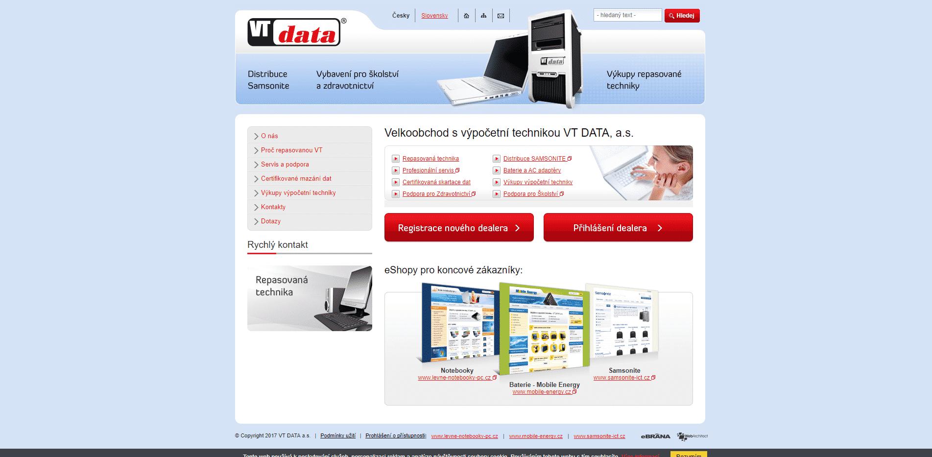 Velkoobchod s výpočetní technikou VT DATA a.s.