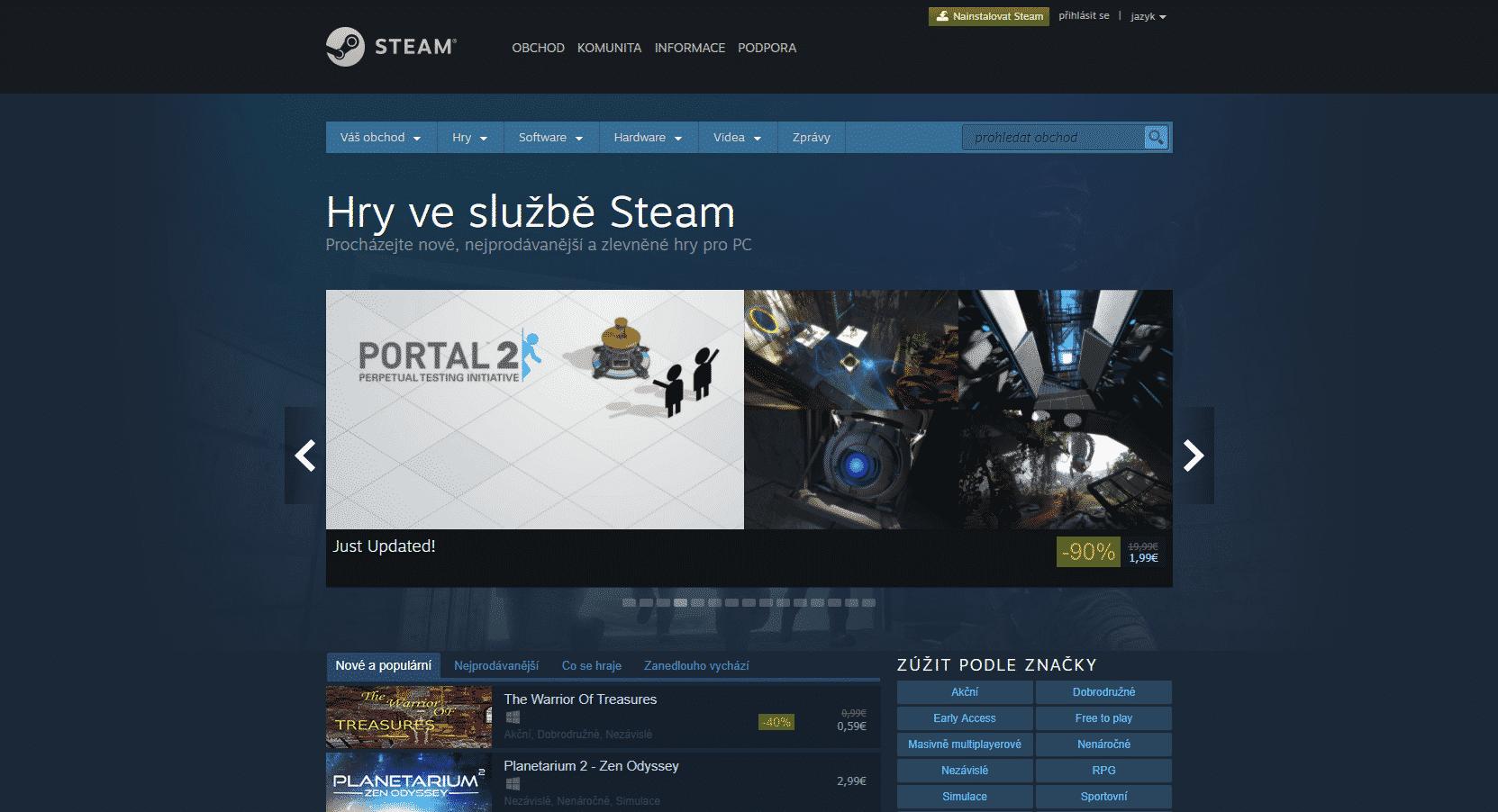 Steam - sleva 90 %