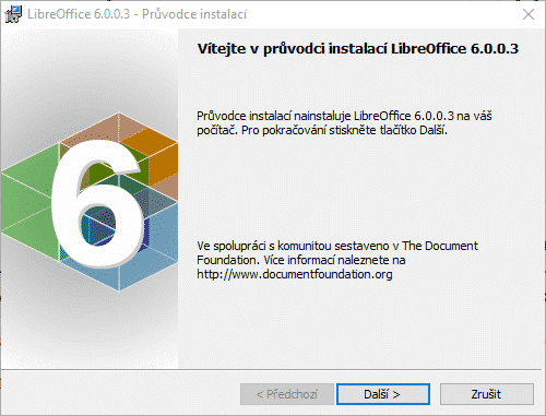 LibreOffice 6, instalace
