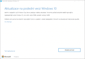 windows 10 aktualizace