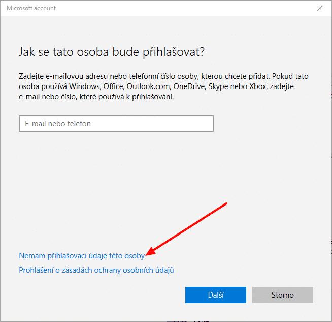 Windows 10 Nový uživatel