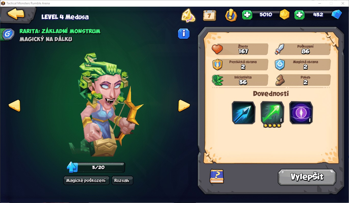 Tactical Monsters Rumble Arena, Medusa