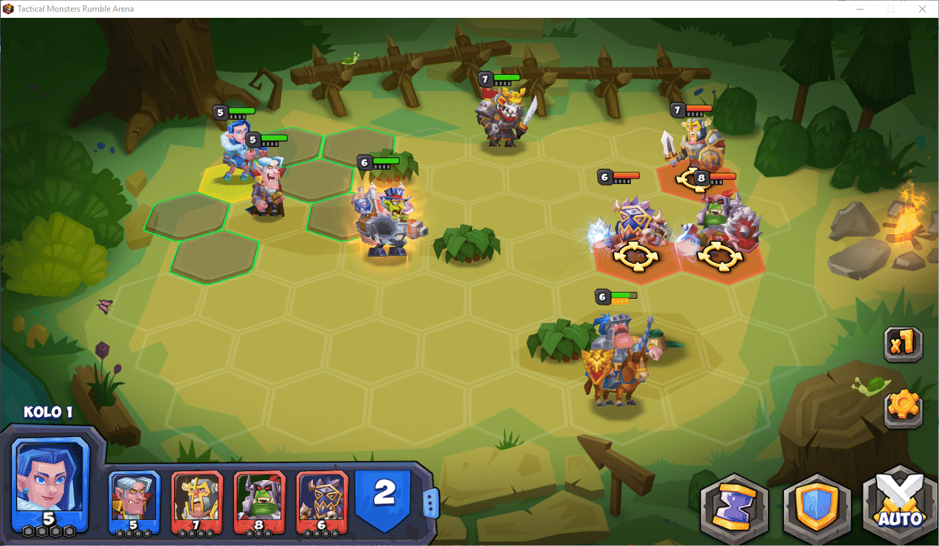 Tactical Monsters Rumble Arena, bitva