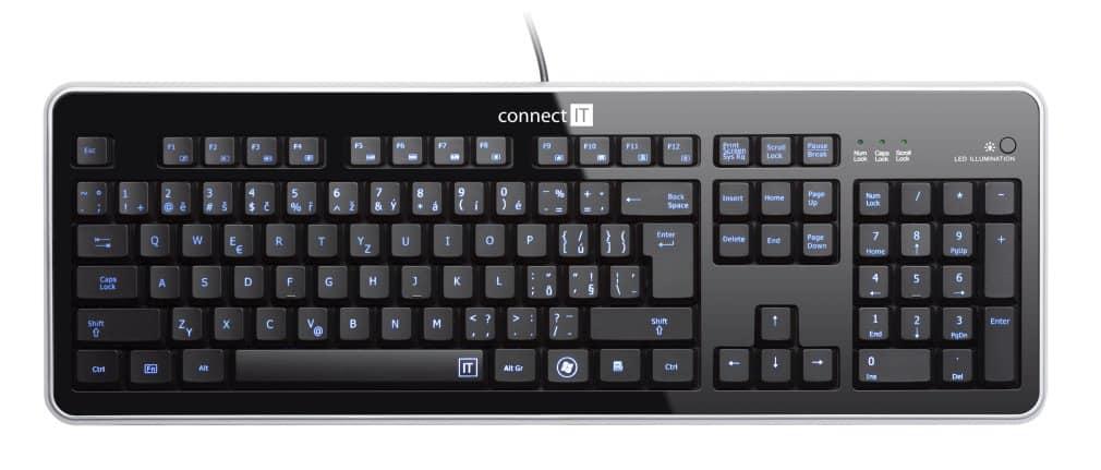 klávesnice Connect IT CI-45, podsvícená