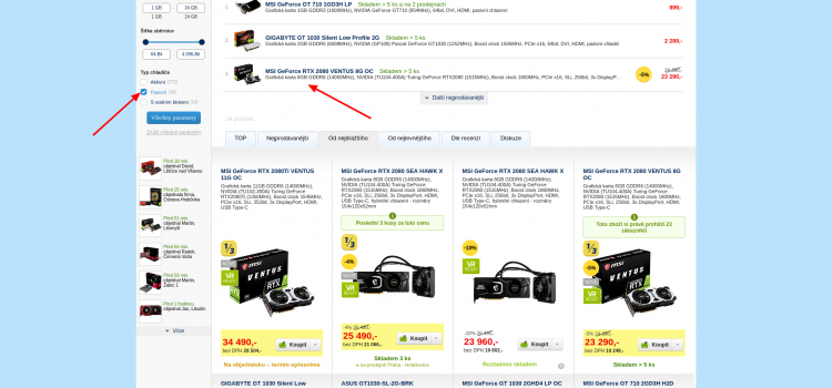 GeForce RTX 2080 je chybně zařazená