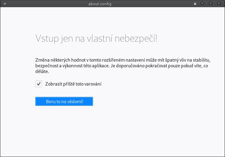 Mozilla Thunderbird: Vstup na vlastní nebezpečí
