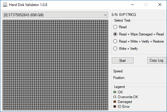 Hard Disk Validator 1.0.8
