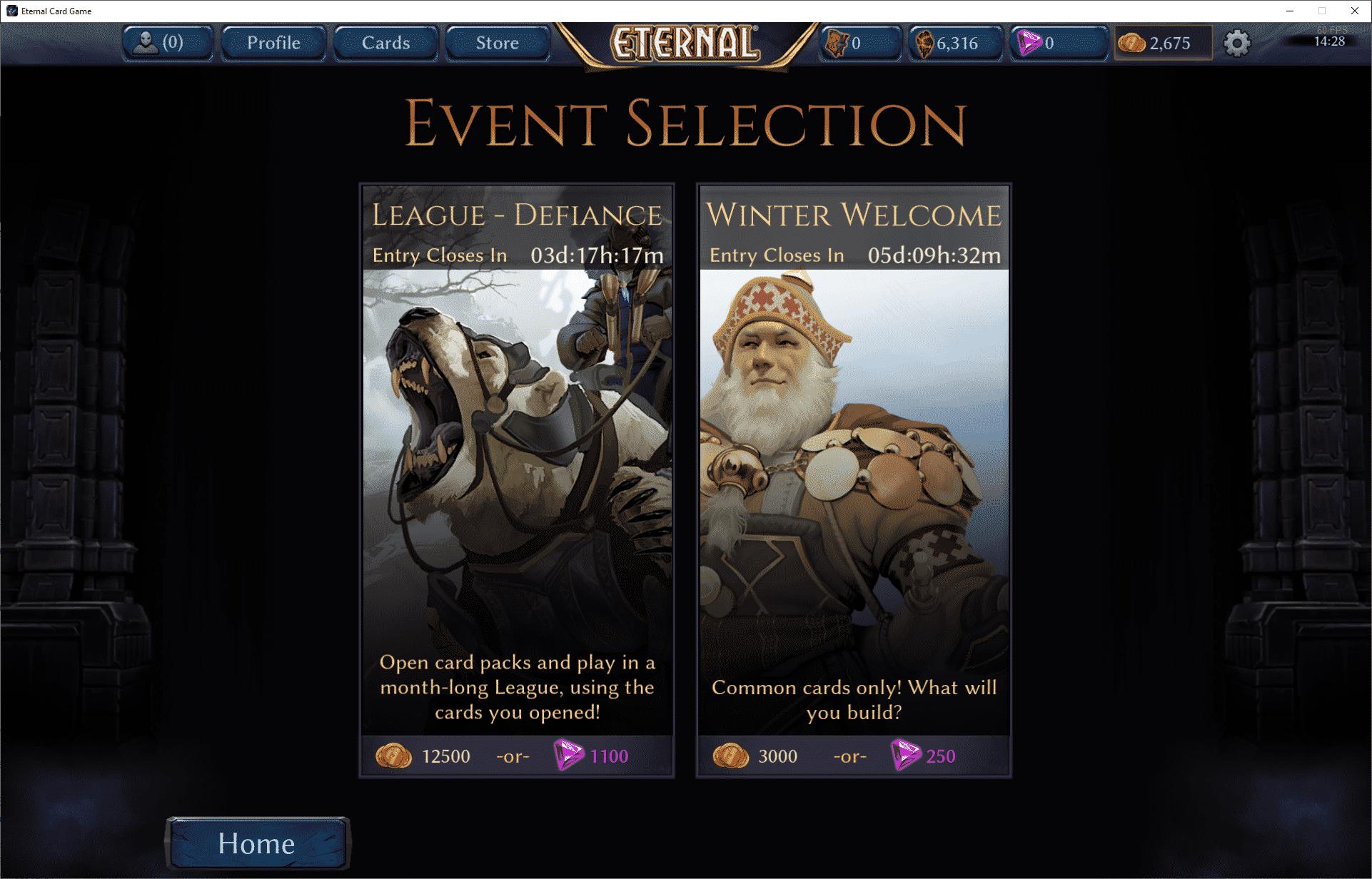 Eternal Card Game, mód Event