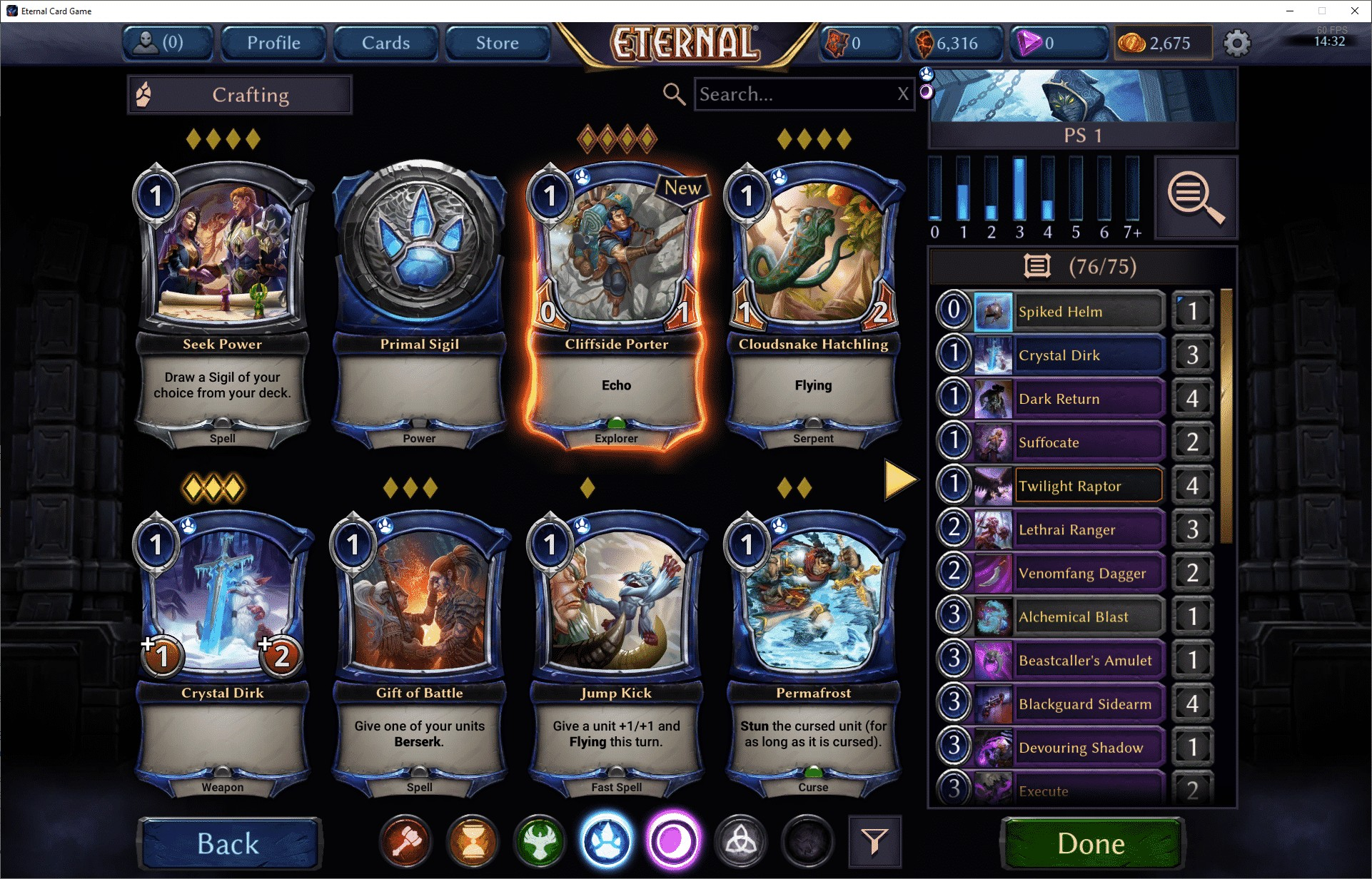 Eternal Card Game, stavba balíčku