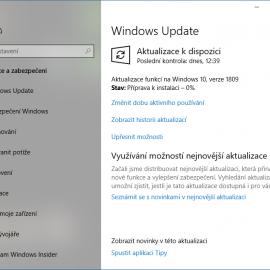 Windows 10: aktualizace 1809, nový vzhled vyhledávání