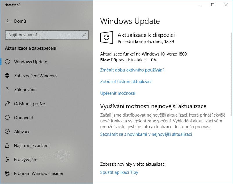 windows 10 update 1809 amd64