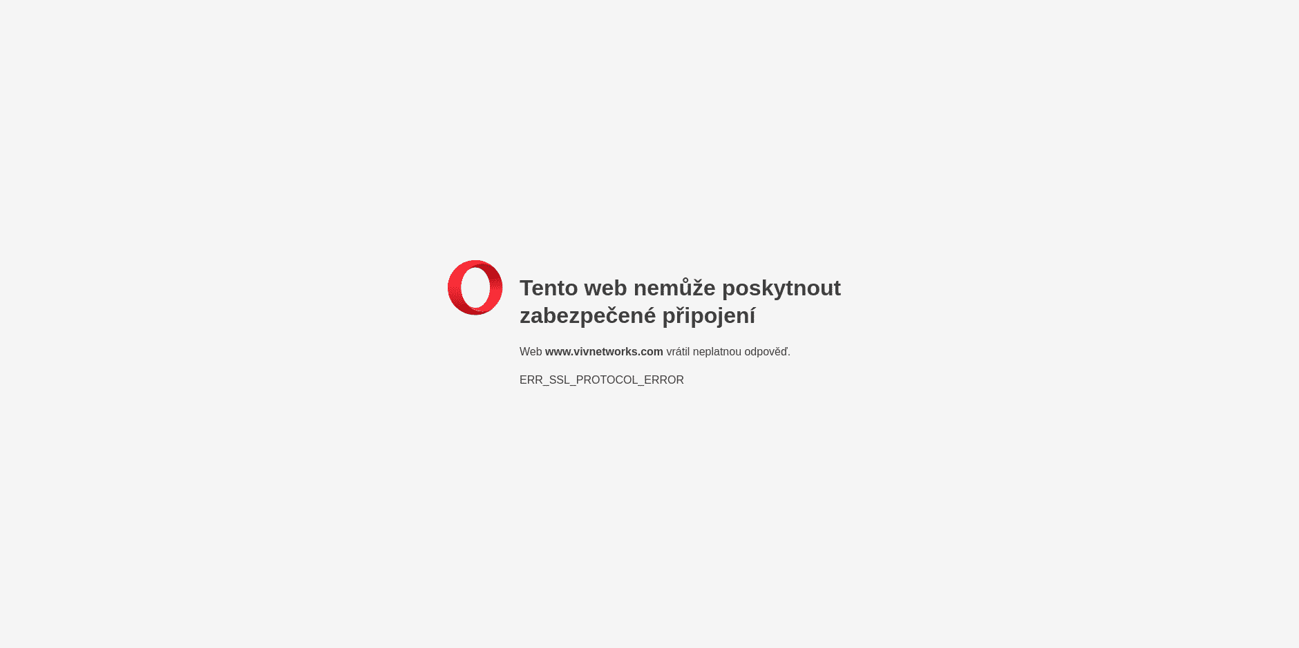 VIVnetworks.com, nezabezpečené HTTP