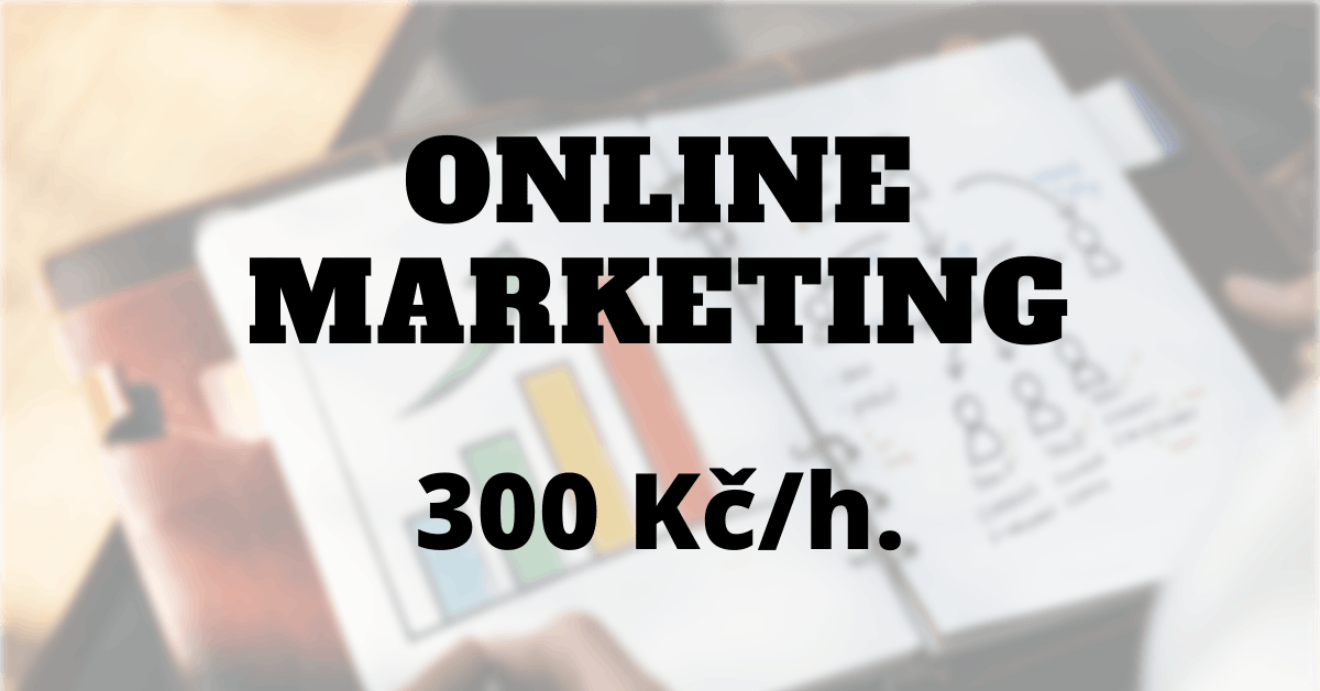 Online marketing, 300 Kč/h.
