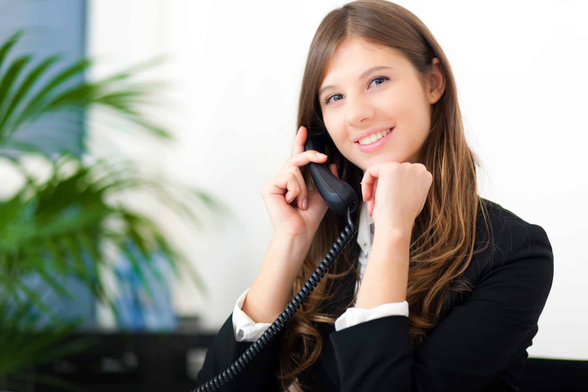 paní telefonistka