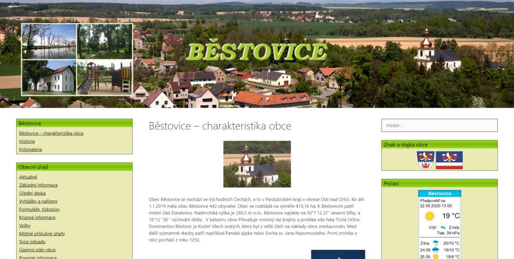 obec Běstovice
