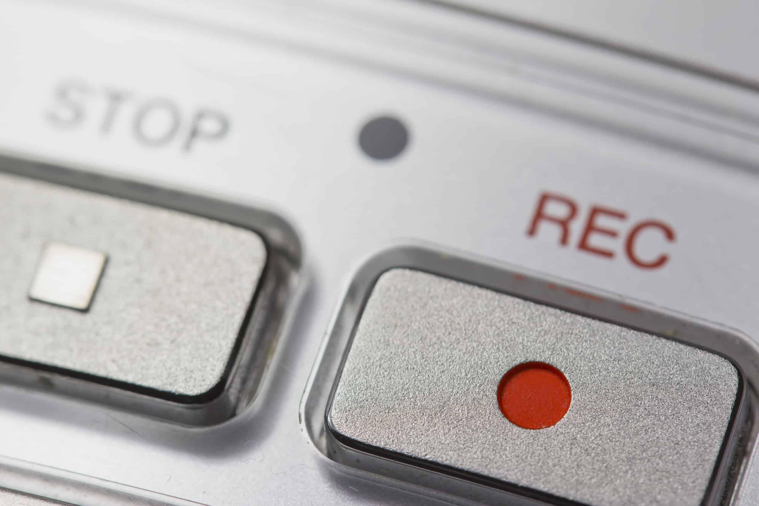Nahrávací REC tlačítko