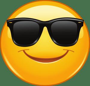 Smajlík s brýlemi
