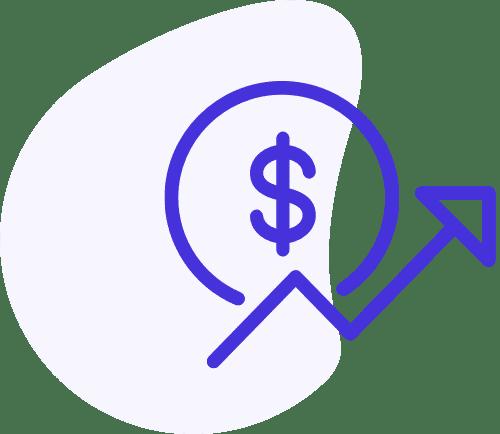 Ikona rostoucích peněz