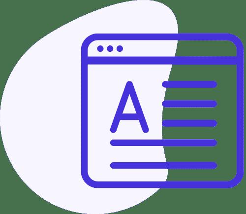 Ikona okna s textovým obsahem