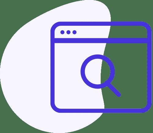 Okno s vyhledávací lupou